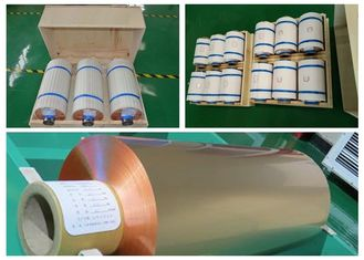 Mylar Tape Roll Of Copper Foil , High Tensile Strength Copper Roll Flashing