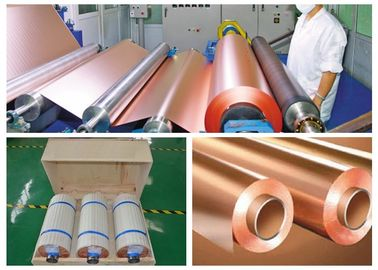 CCL Copper Sheet Metal Roll For CCL Copper Clad Laminate Red Color